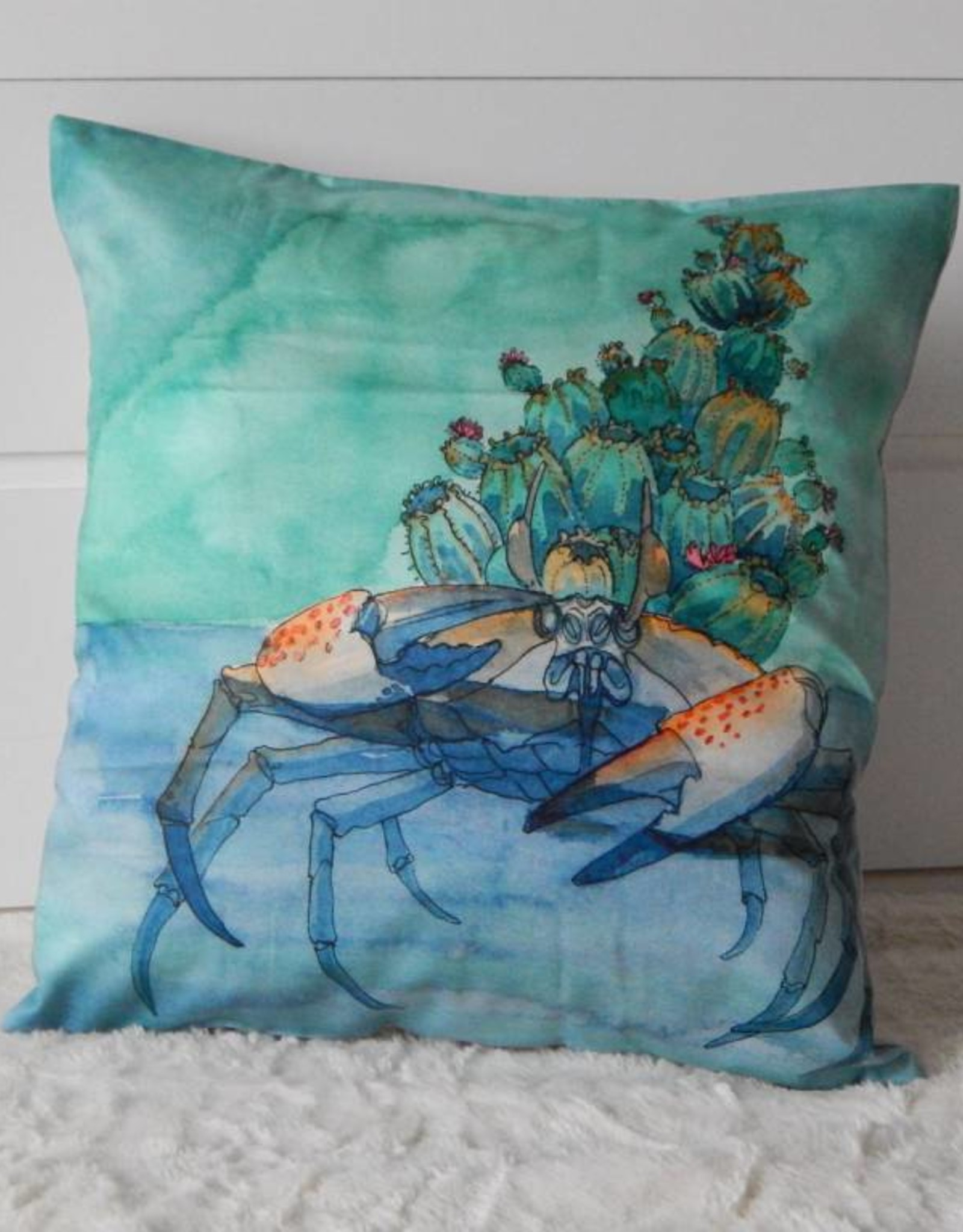Nicole Pustelny Pillow Sheets, Cactus Crab