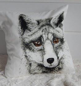 Nicole Pustelny Kissenbezüge, Fuchs schwarz-weiss