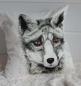 Nicole Pustelny Pillow Sheets, Fox Black-White