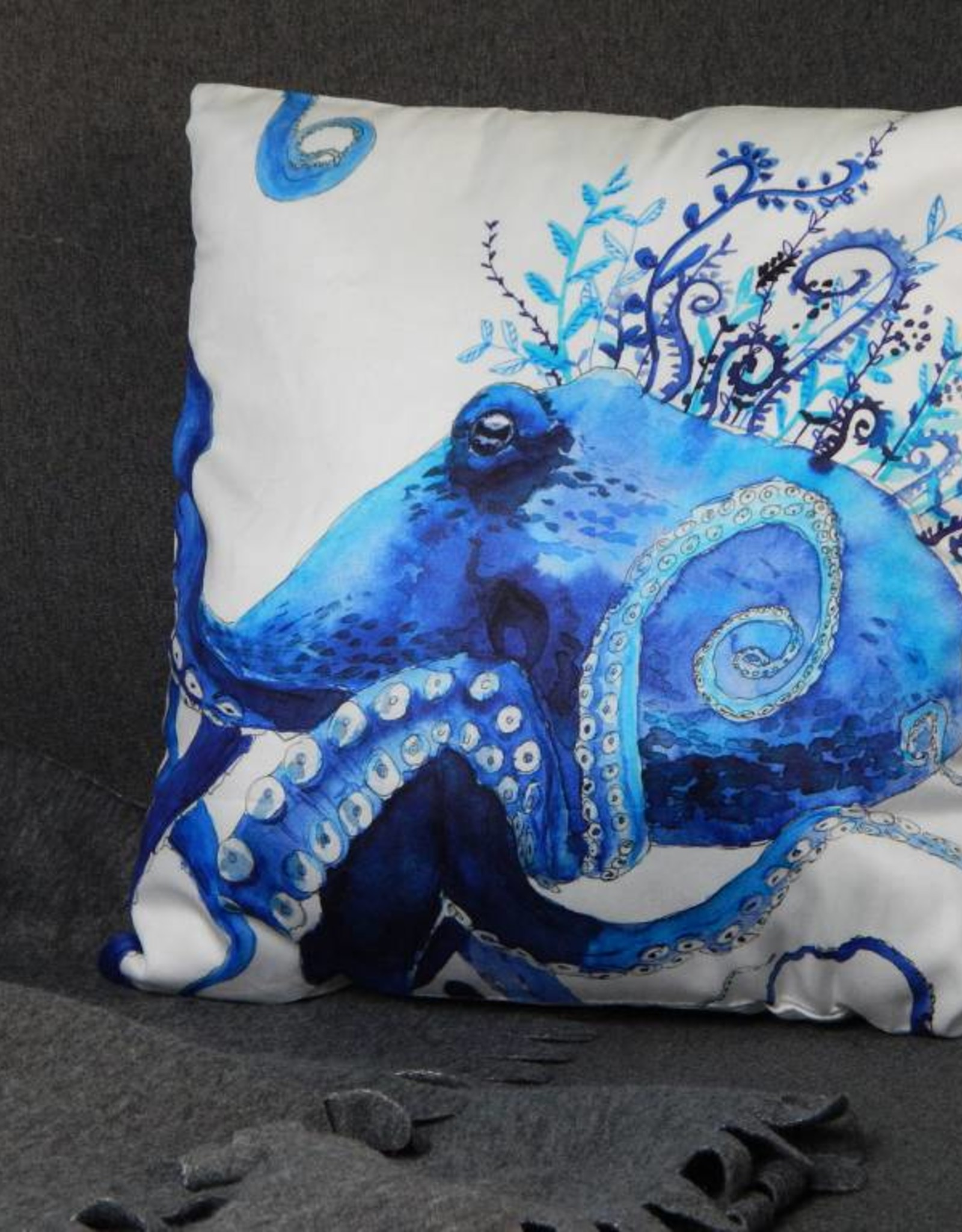 Nicole Pustelny Pillow Sheets, Octopus Blue
