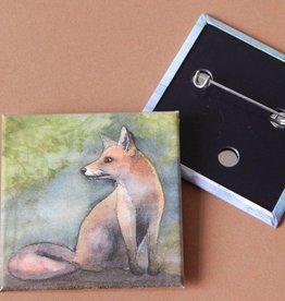 Nicole Pustelny Fuchs, Button quadratisch 5,2 cm - Copy