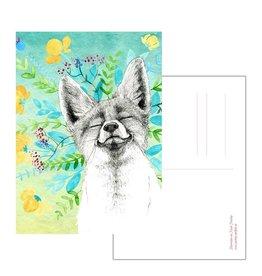 Nicole Pustelny Postkarte -Grinsefuchs