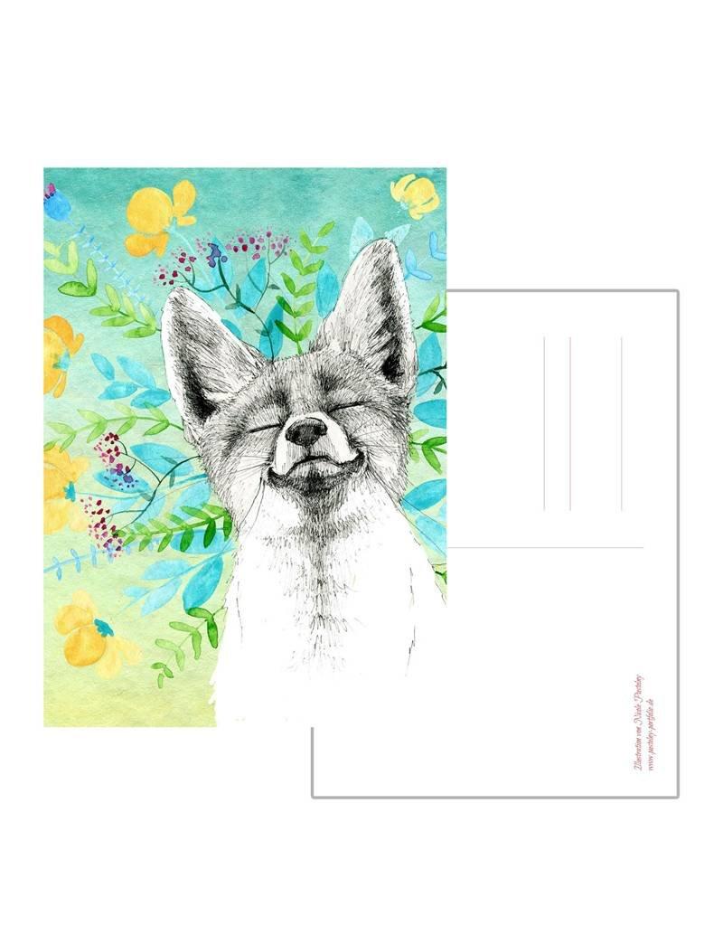 Nicole Pustelny Postcard - Grinning fox