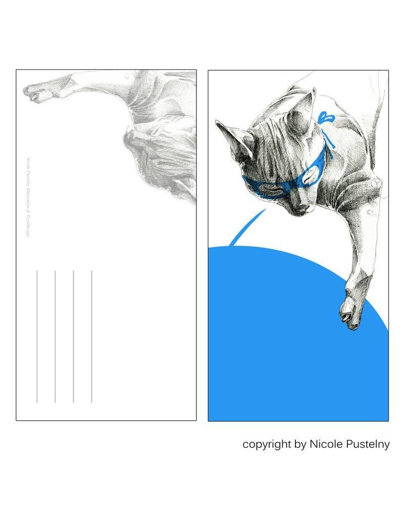 Nicole Pustelny Postcard - Super cat
