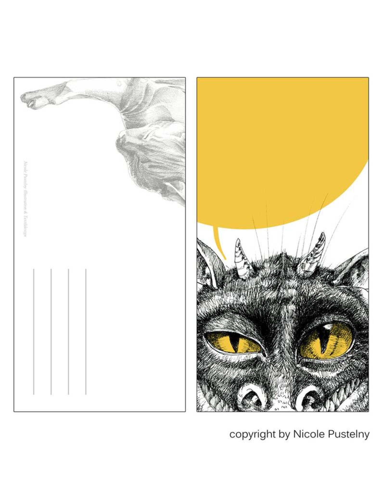 Nicole Pustelny Postkarte - Monsterblick