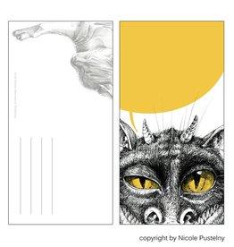 Nicole Pustelny Postcard -  Monster gaze
