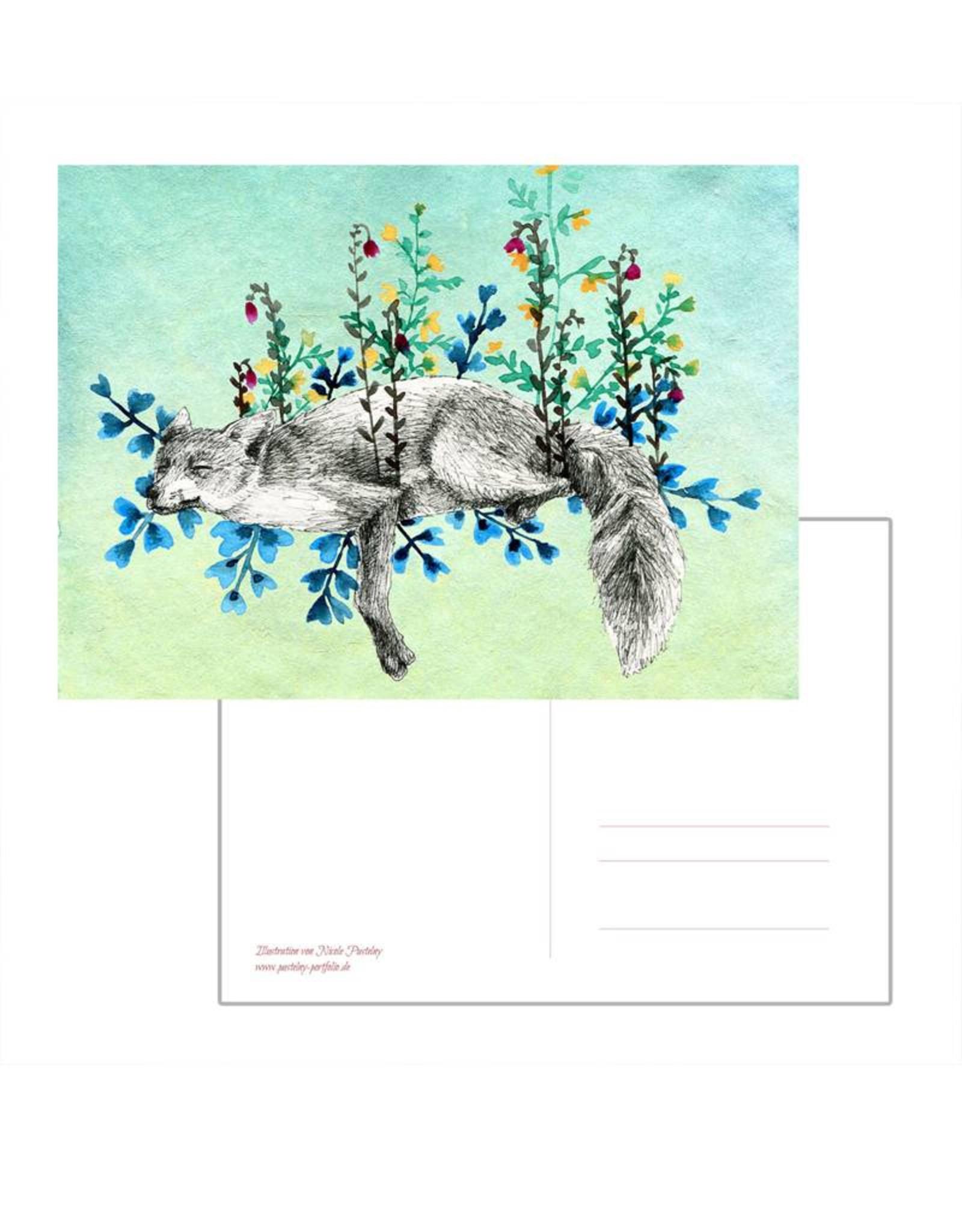 Nicole Pustelny Postcard - Meadow Fox
