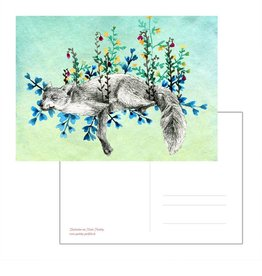 Nicole Pustelny Postcard - Meadow Fox