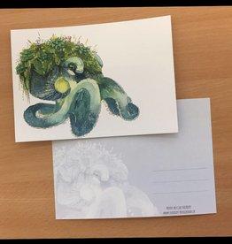 Nicole Pustelny Postkarte - Waldundwiesenoktopus