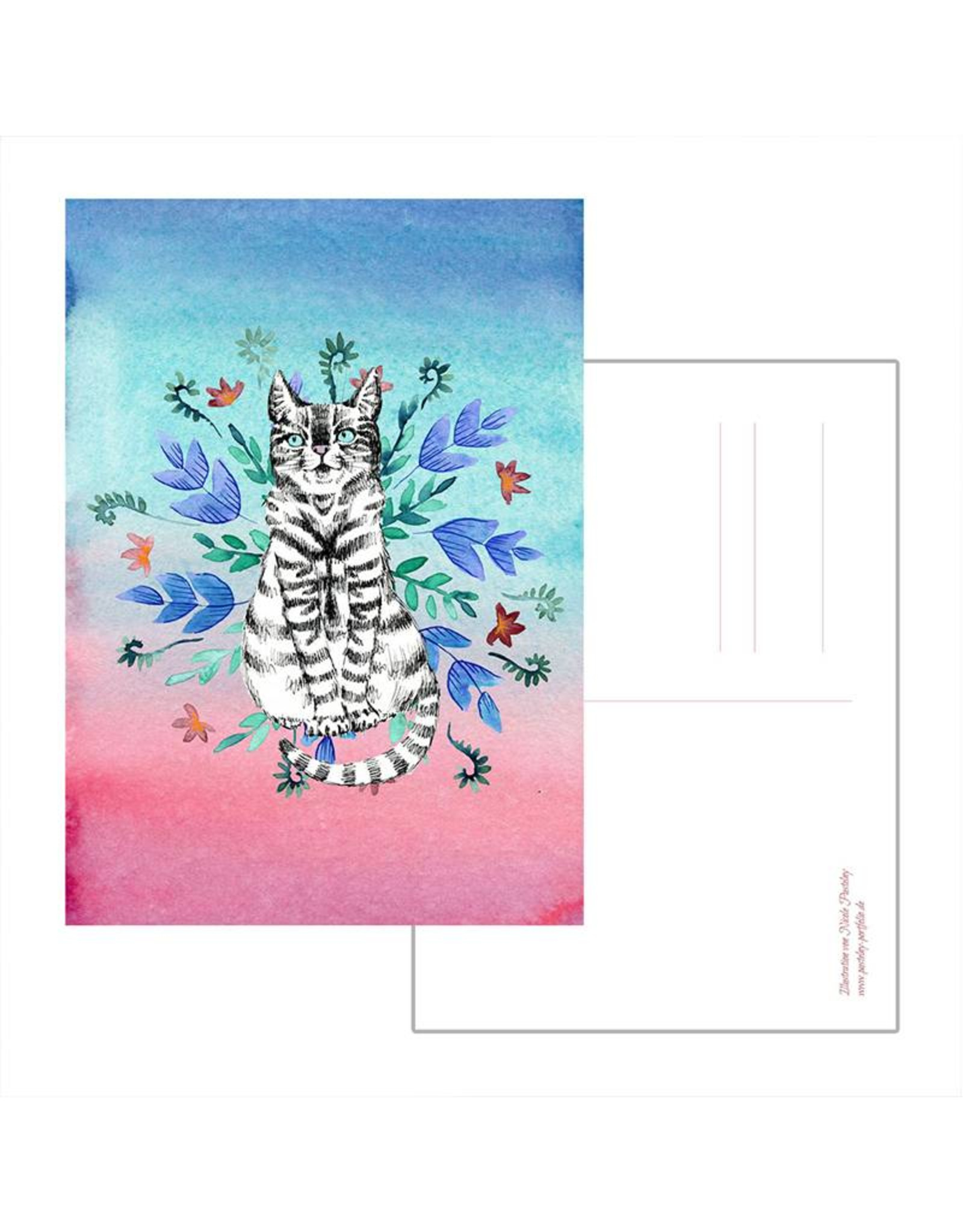Nicole Pustelny Postkarte - Katze