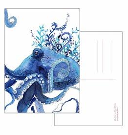 Nicole Pustelny Postkarte - Krake