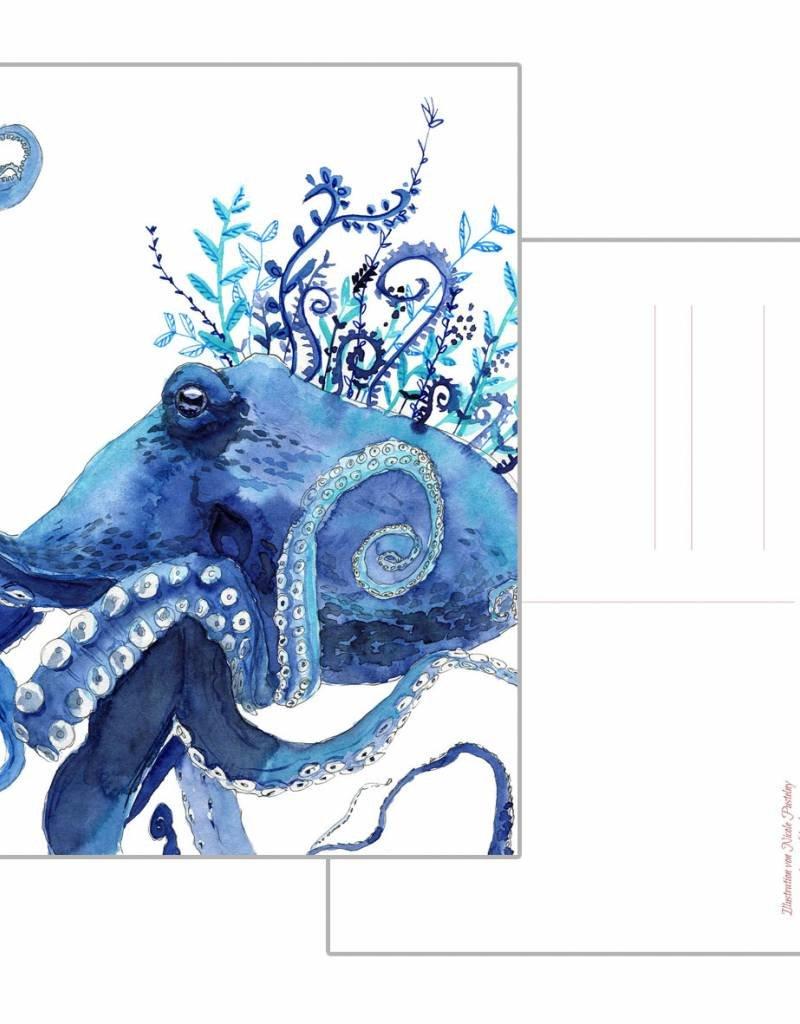 Nicole Pustelny Postkarte -Krake