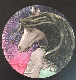 Nicole Pustelny Bierdeckel, Pferd