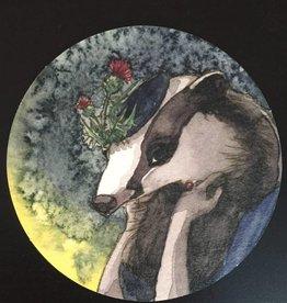 Nicole Pustelny Beer mat, Badger