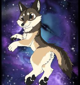 Kitty Fluff Flauschige Decke- Wolf (Braun)