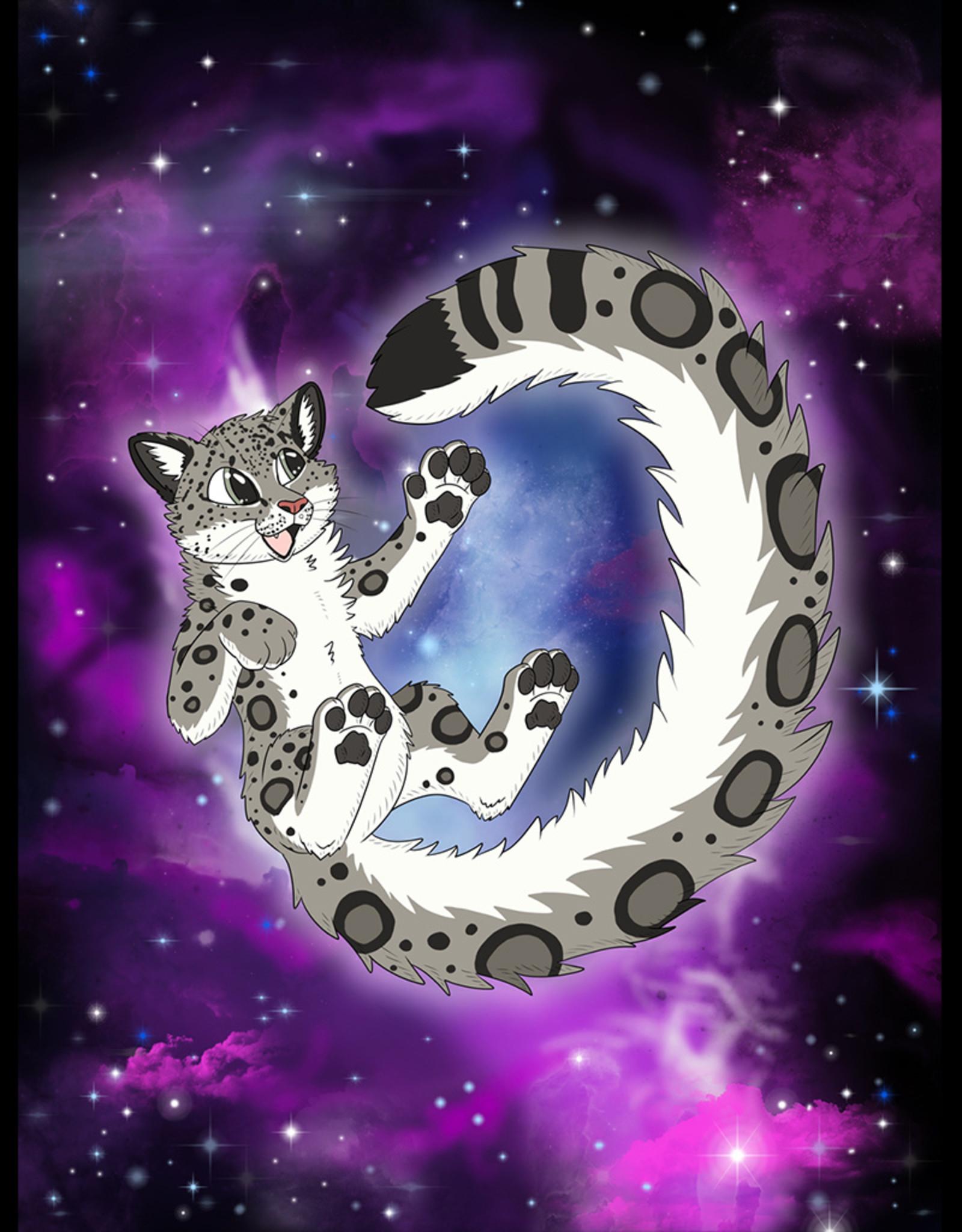 Kitty Fluff Fluffy Blanket- Snow Leopard