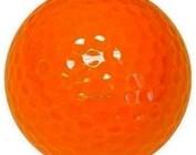 Orange golf balls
