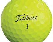 Titleist colored golf balls