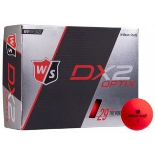 Wilson Staff DX2 Optix matte red • new in box 12 pieces