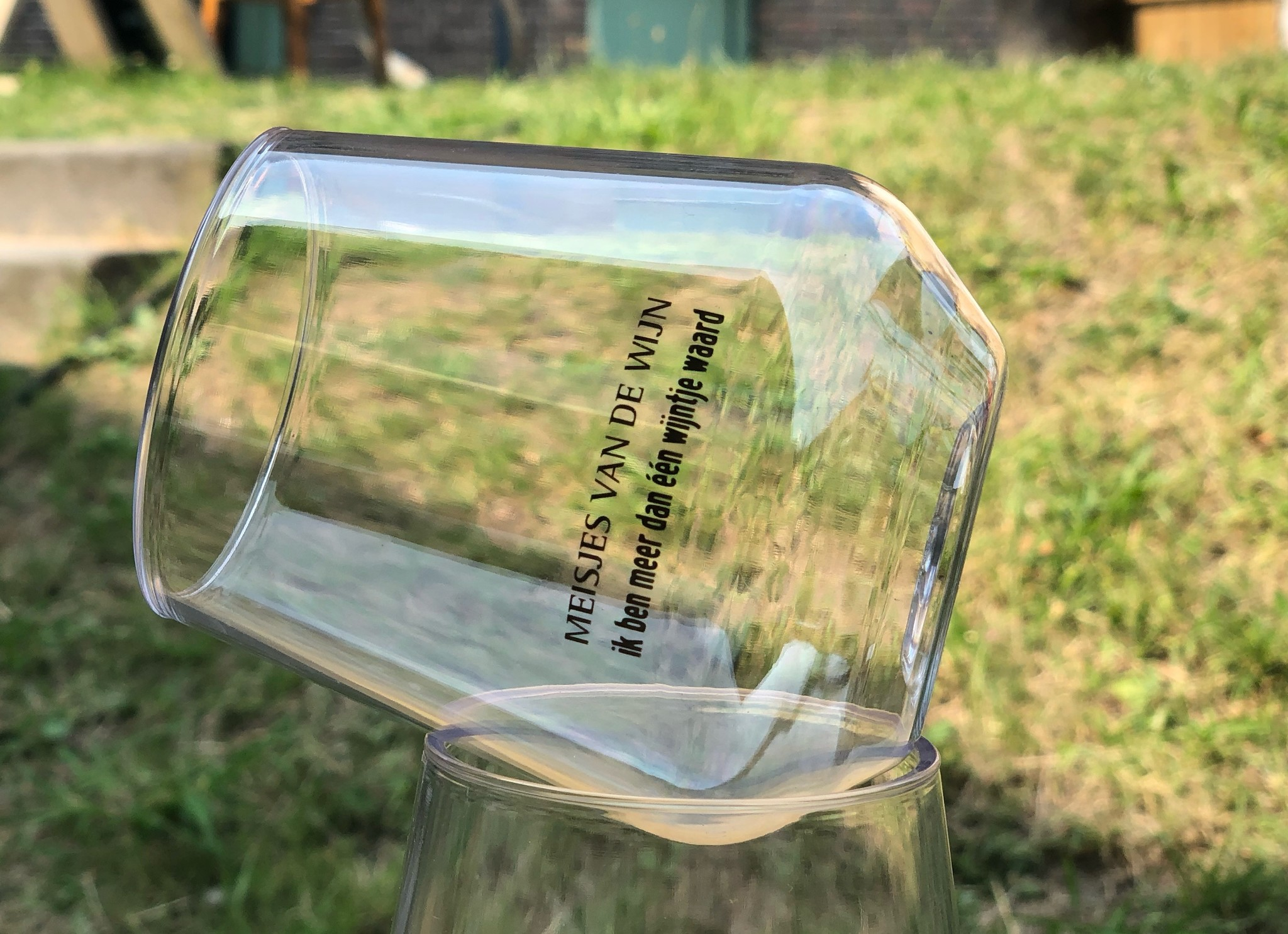 MvdW Meisjes van de Wijn Festivalglass (plastic)