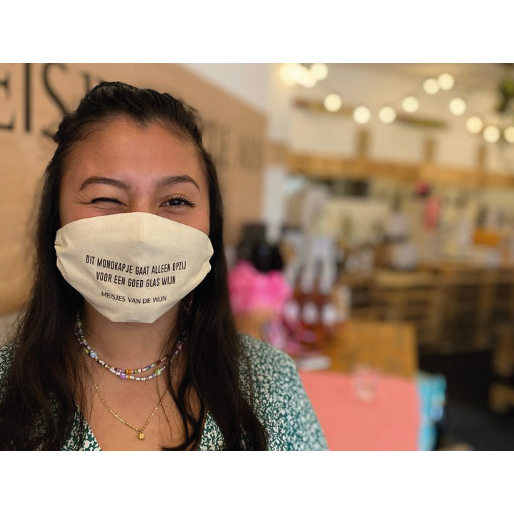 Meisjes van de Wijn Mouth Mask - Dit mondkapje gaat alleen opzij voor een goed glas wijn