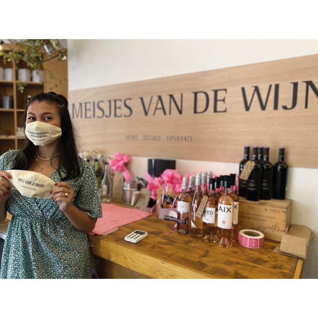 MvdW Mondkapje - Dit mondkapje gaat alleen opzij voor een goed glas wijn