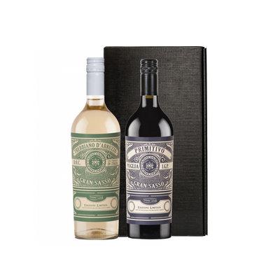 Farnese Vini Gran Sasso Tebbiano en Primitivo in zwarte geschenkdoos