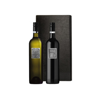 Berton Vineyards Metal label - White Viognier en Black Shiraz in zwarte geschenkdoos