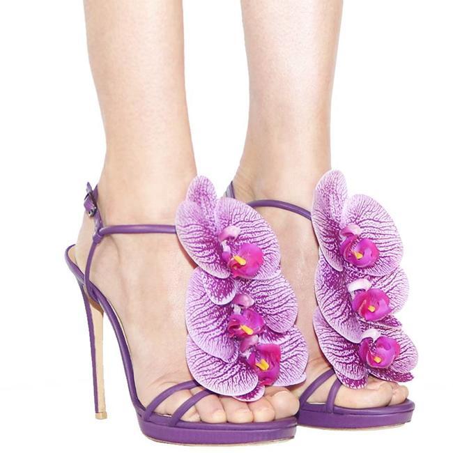 The Pretty Venus Orchid Heels Purple