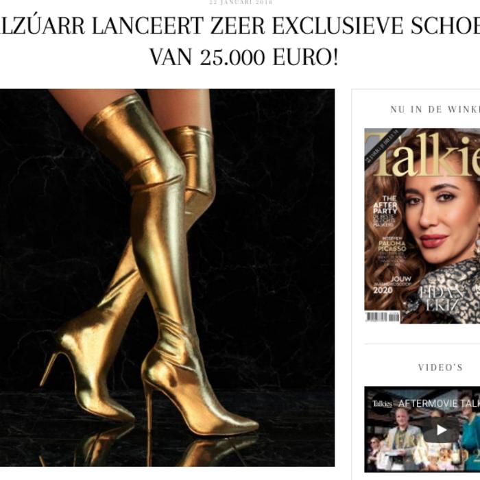 Talkies Magazine 25K Golden Boots