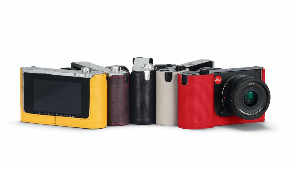 Leica Protector TL, leather, red