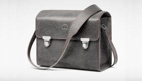 Leica Leica System Case, size S, leather, stone grey