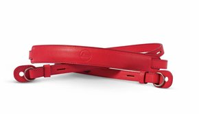 Leica Leica Neck Strap, leather, red