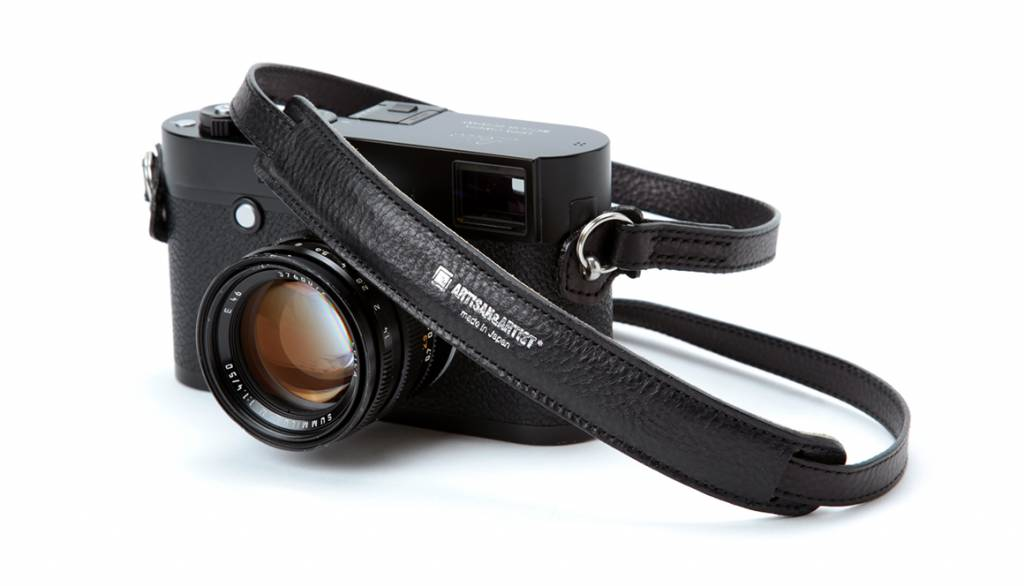 Artisan & Artist ACAM 255A leather camera strap - black