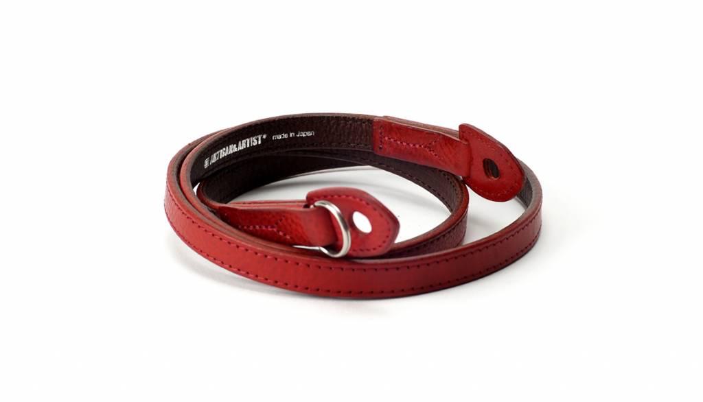 Artisan & Artist ACAM 280 Italian leather camera strap - red