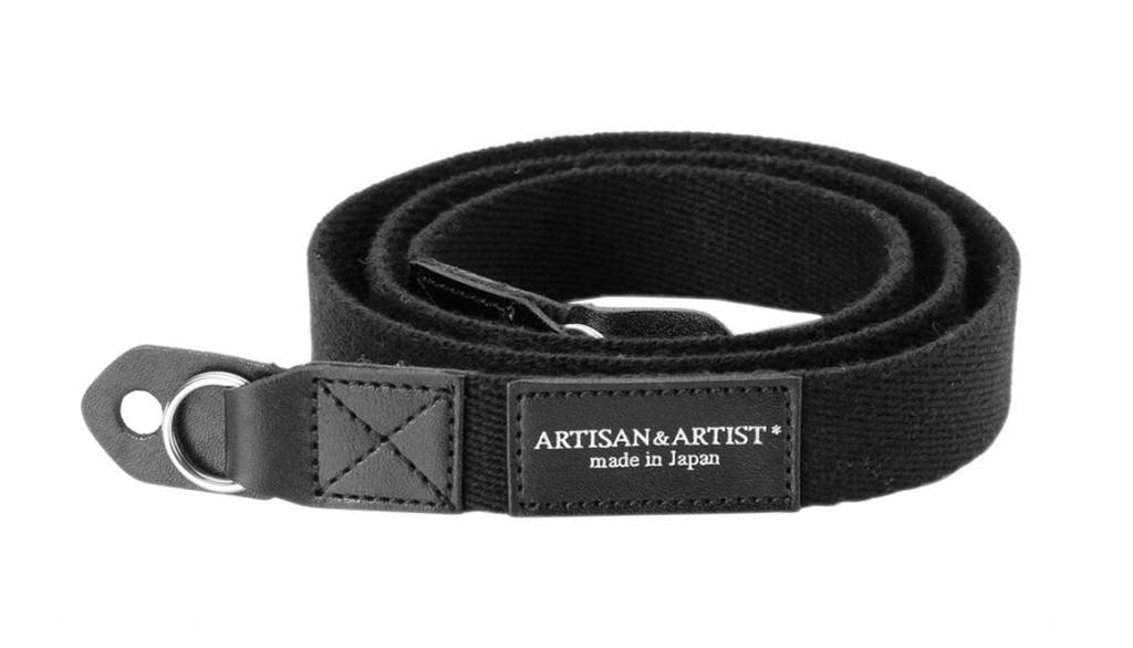 Artisan & Artist ACAM 102 acrylic camera strap - black
