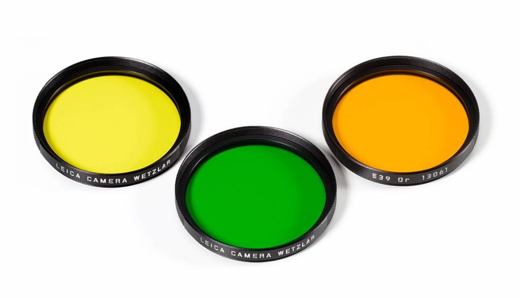 Leica Yellow Filter, E39, black