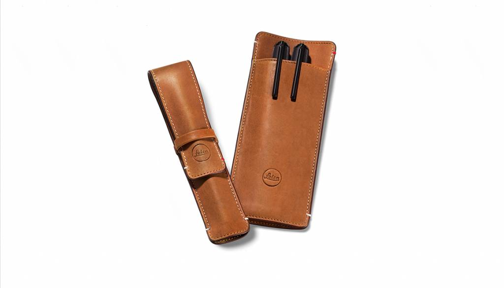 Leica 3-Pen Case, leather, brown