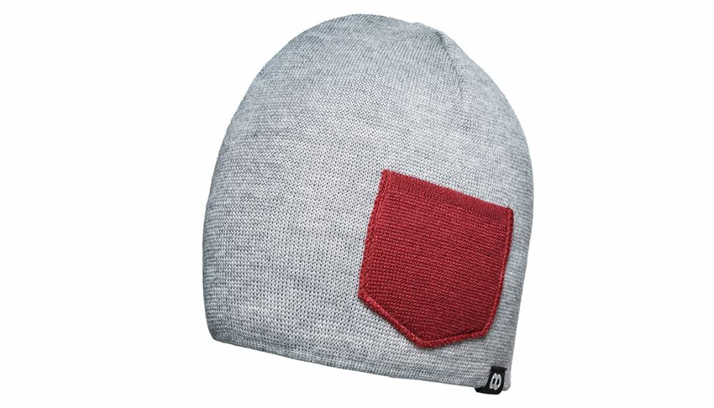 COOPH Beanie WINTER gray/red