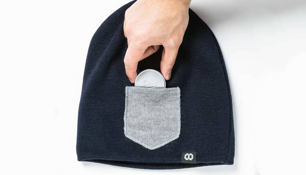 COOPH Beanie WINTER, navy/gray