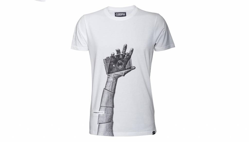 COOPH T-Shirt SNAPOGRAPHER, white, XXL