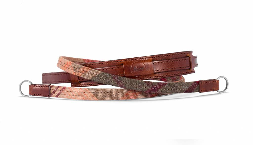 Leica Neck Strap Lifestyle, leather/fabric, check