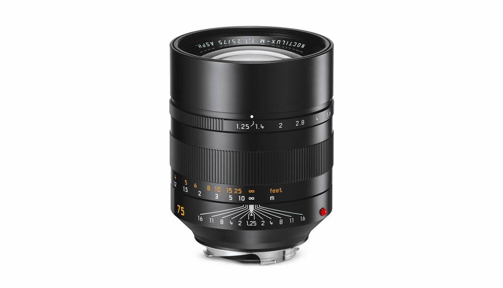 Leica Noctilux-M 75mm f/1.25 ASPH, black