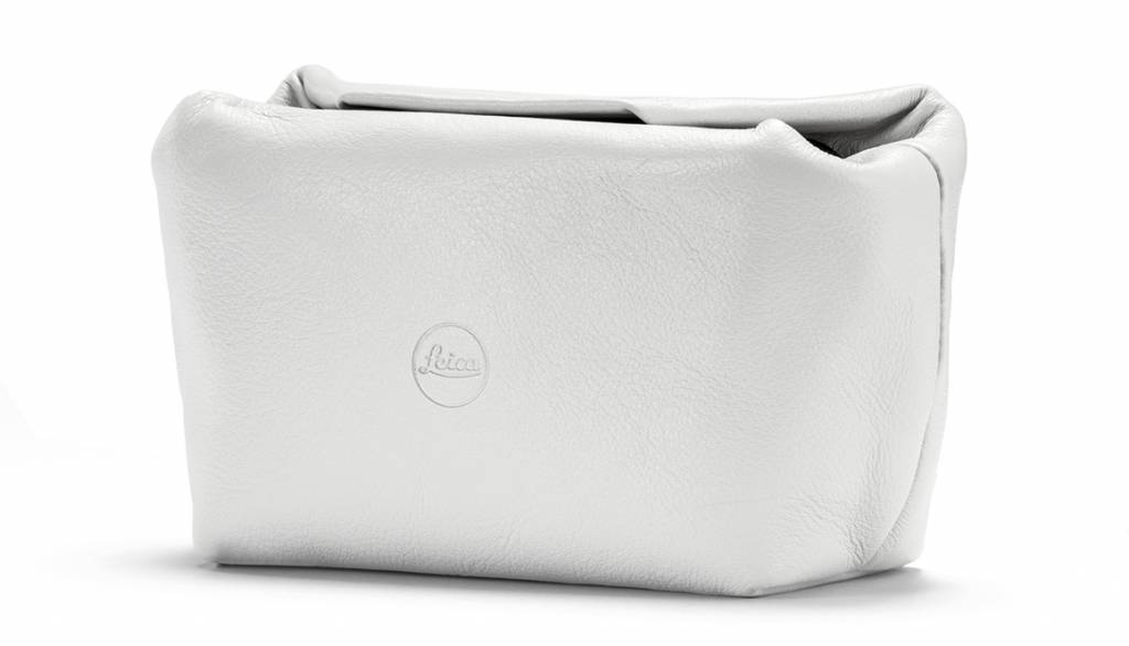 Leica Soft Pouch, C-LUX, size S, leather, white
