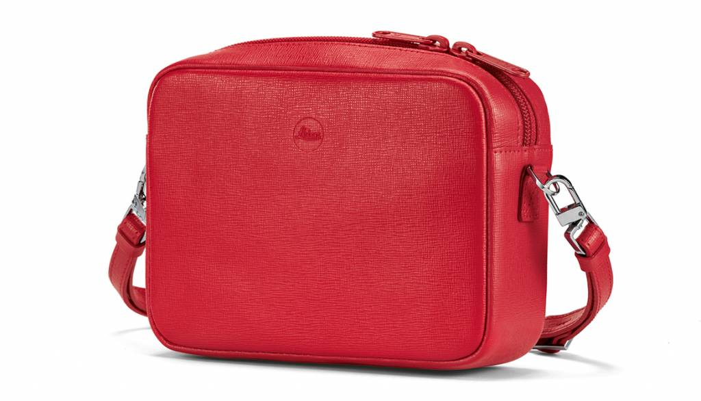 Leica Bag Andrea, C-LUX, leather, red