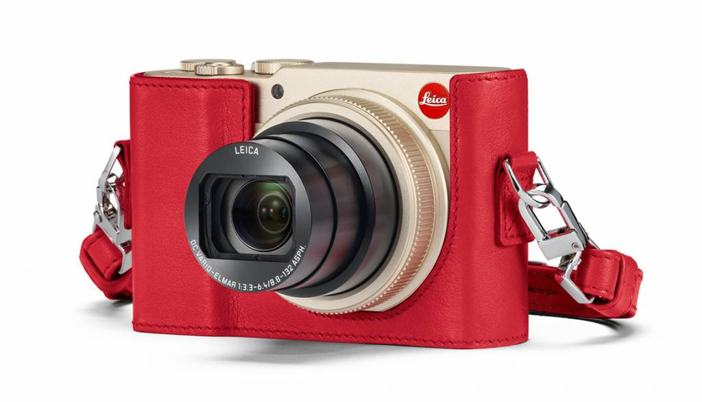 Leica Protector, C-LUX, leather, red