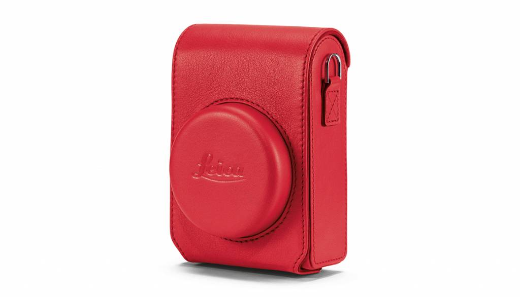 Leica Case, C-LUX, leather, red
