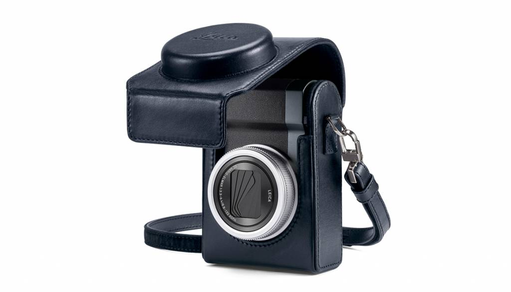 Leica Case, C-LUX, leather, blue