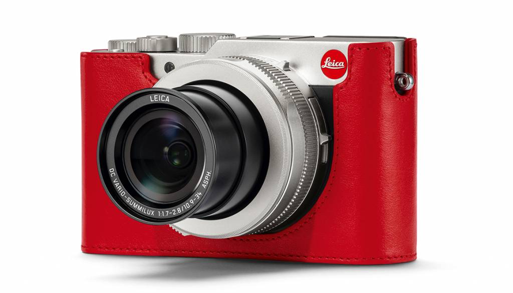 Leica Protector, D-LUX 7, leather, red