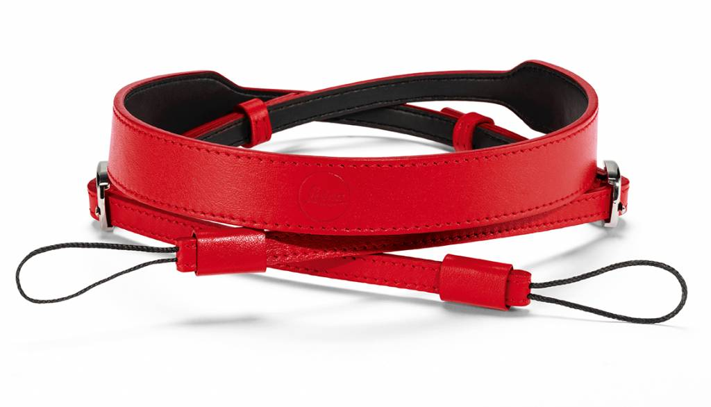 Leica Carrying Strap, D-Lux 7, leather, red